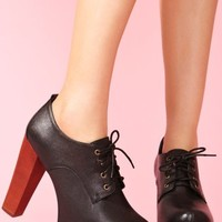 Fairlane Platform - Black Leather