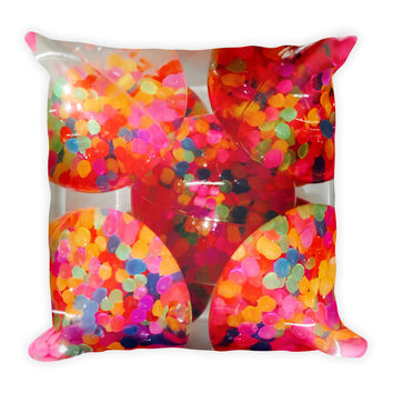Plastic Paradise Throw Pillow
