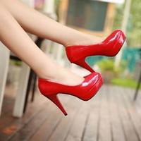 Women New Pumps Platform Stiletto High Heels Party Wedding Shoes Lager Size 5-10