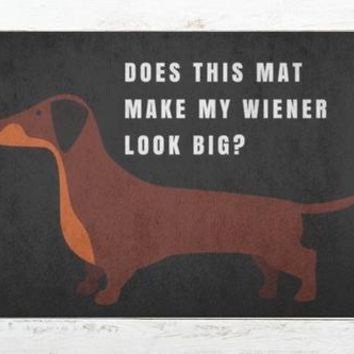 Weiner Dog Welcome Doormat