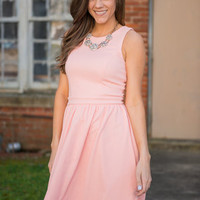 All Dolled Up Dress, Peach