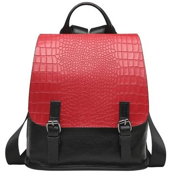 Top Grain Leather School Backpack
