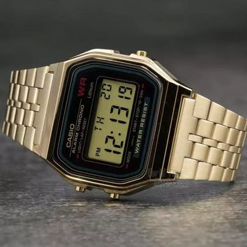 Men's Casio Retro Gold Sports Watch