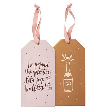 Bottle Tag - Popped the Question, Pop Bottles