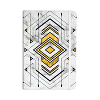 """KESS Original """"Geo Marble Graphic"""" Gold Tribal Everything Notebook"""