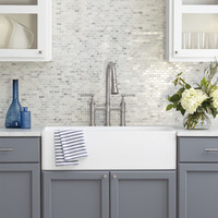 Shop American Olean Genuine Stone Refined White Brick Mosaic Marble Floor And Wall Tile (Common: 12-in x 12-in; Actual: 12.5-in x 12-in) at Lowes.com
