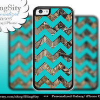 Monogram iPhone 5C 6 6 Plus Case Camo Aqua Chevron iPhone 5s iPhone 4 case Ipod 4 5 case Real Tree Personalized Country Inspired Girl