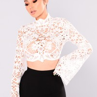 Call You Mine Crochet Top - Ivory