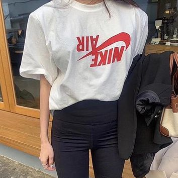 NIKE Hot Sale Barb Cotton Lovers Casual Sports Short Sleeve T-Shirt