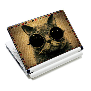 glass cat laptop skin decal trackpad vinyl stickers notebook cover 7'' 8'' 9'' 10'' 10.1'' for HP DELL ACER ASUS NEK10-2971
