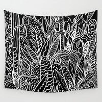 THE GARDEN Wall Tapestry by Kris Tate