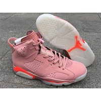 Air Jordan 6 Pink Infrared 384664-031 Shoes 36-47