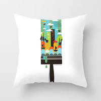 Paint your world Throw Pillow by Budi Satria Kwan