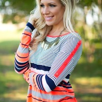 Urban Stripes Top in Neon