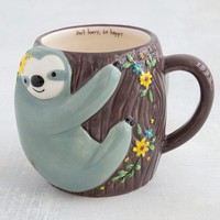 Sloth Don't Hurry, Be Happy Ceramic Mug