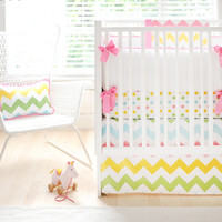 New Arrivals Zig Zag Baby in Rainbow Baby Bedding