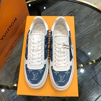 lv louis vuitton men fashion boots fashionable casual leather breathable sneakers running shoes 750