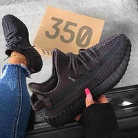 Adidas Yeezy Boost 350 V2 Trending Men Women Comfortable Running Sport Shoes Sneakers Black