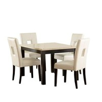 HomeSullivan, Sorrento 5-Piece Faux Marble Black Counter Height Dining Set, 403270-48[5PC]S1W at The Home Depot - Tablet