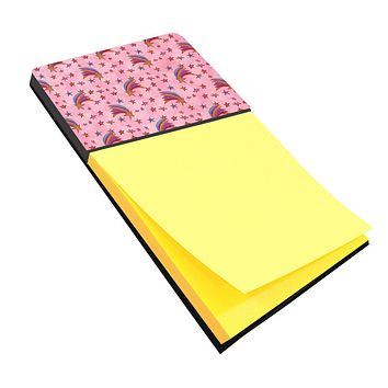 Watercolor Shooting Stars on Pink Sticky Note Holder BB7548SN