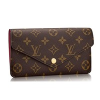 Louis Vuitton Monogram Canvas Jeanne Wallet Article:M62155 Made in France