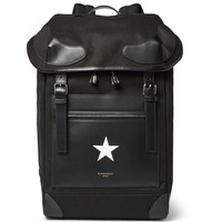 Givenchy - Rider Leather-Trimmed Twill Backpack