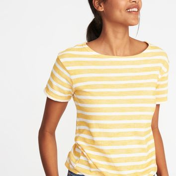 Relaxed Tie-Front Top for Women |old-navy
