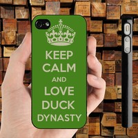 keep calm and love duck dynasty iPhone 4 / 4S case iPhone 5 case Samsung Galaxy S2 case Samsung Galaxy S3 case