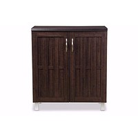 Excel Modern and Contemporary Dark Brown Sideboard Storage Cabinet By Baxton Studio