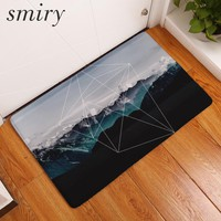 Smiry anti slip doormat for entrance door deep mountain forest irregular geometric pattern mats 40*60cm bedside foot pads crafts
