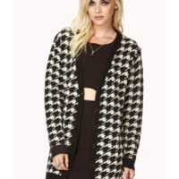 Forever 21 | White Retro Houndstooth Cardigan | Lyst