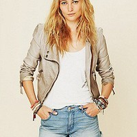 Free People Clothing Boutique > Double Breasted Vegan Leather Jacket