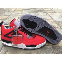 Air Jordan 4 Bulls Red Basketball Shoes 36-47