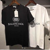 Balenciaga Women Men Hot Tunic T-shirt Top Blouse