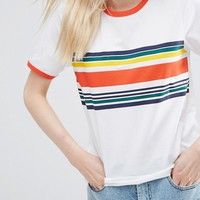 ASOS T-Shirt With Placement Stripe at asos.com