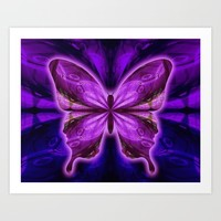 Divine Butterfly Art Print by Gift Of Signs