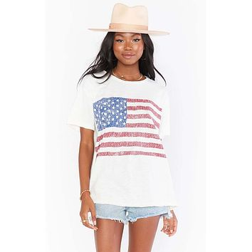 Cooper Tee American Flag Graphic