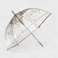ShedRain Bubble Umbrellas - Clear Gold Dot