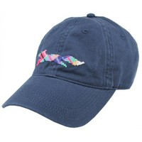 """Country Club Prep """"Longshanks"""" Needlepoint Hat in Navy by Smathers & Branson"""