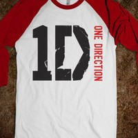 One Direction Team Styles baseball t shirt (see back)