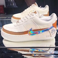 Air Force 1 AF1 Nike Flat Shoes Sports Sneakers Board shoes Laser hook