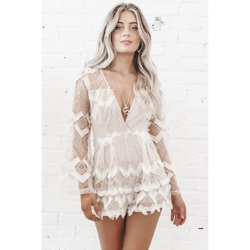 In The Wedding Party Fringe Romper