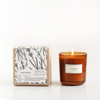 Lavender Amber Glass Candle