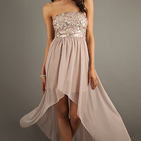 Strapless High Low Dress by Jump