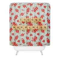 Happee Monkee Choose Happiness Shower Curtain