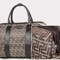 Zucca Logo Carry On Overnight Luggage Suitcase [Misc.]