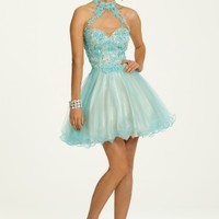 Two Tone Lace and Tulle Halter