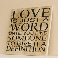 Word Art LOVE Definition  Word Collage by TheBeautifulHome on Etsy