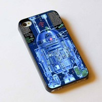Star Wars R2D2 Robot iPhone 4/4S Case Hard Cover Plastic
