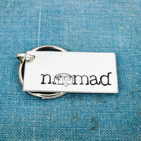 Nomad Key Chain - Camping - Hiking - Travel - Adventure - Aluminum Key Chain